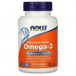 NOW Omega-3 1000 mg, 100 softgels.