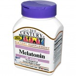 Melatonin, 21st Century Health Care, 3 mg, 200 Tablets