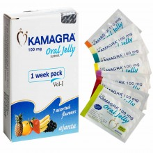 Kamagra Oral Jelly -100мг 7шт. (Виагра гель, Индия)
