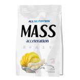 Гейнер All Nutrition Mass Acceleration 3кг (белый шоколад, клубника, латте, клубника-банан) Польша