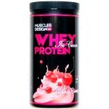Muscles Design Whey Protein 909гр. (Сгущенка, Вишня, Банановое мороженое, Миндальный торт)