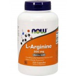 NOW Arginine 500 mg, 100 caps.