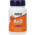 NOW Vitamin A & D 10,000/400 IU, 100 softgels.